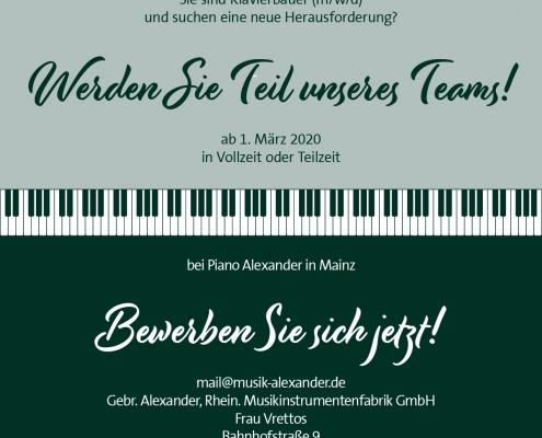 Klavierbauer gesucht